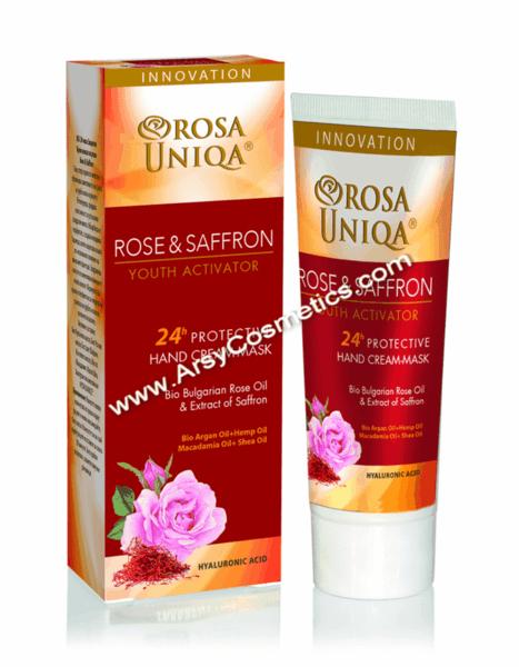 Крем маска за ръце Rose & Saffron